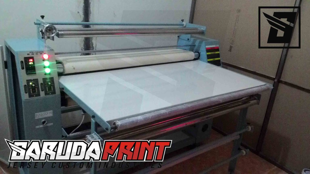 ruang press pembuatan baju printing