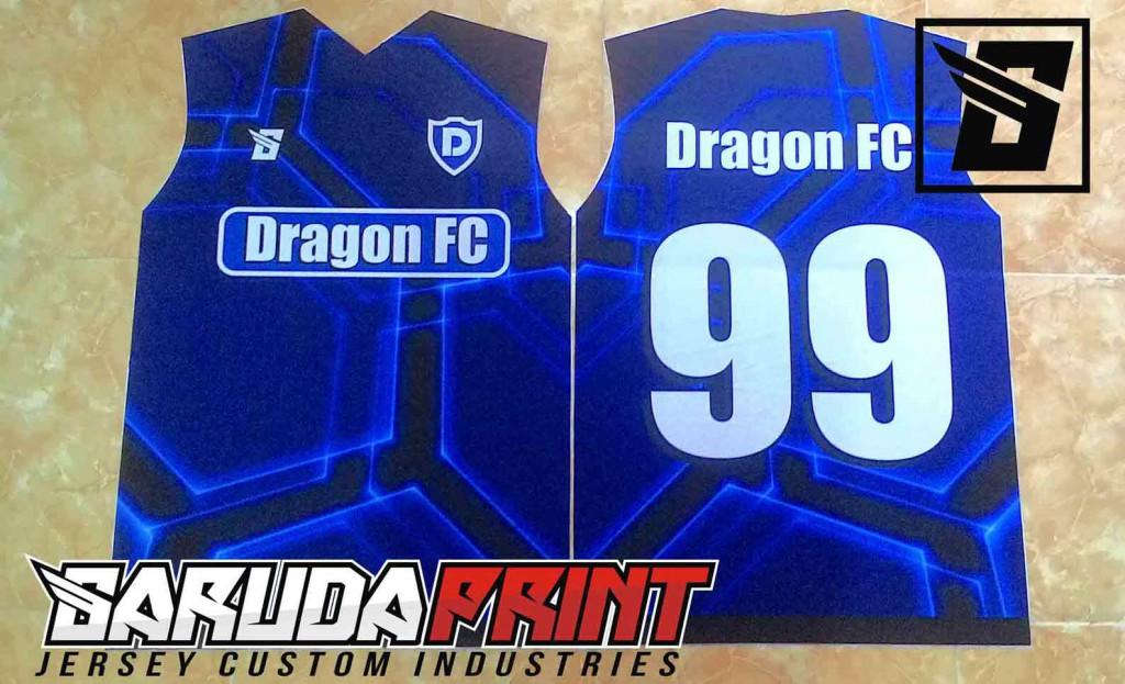 PEMBUATAN KOSTUM FUTSAL DRAGON FC PESANAN DARI SURABAYA