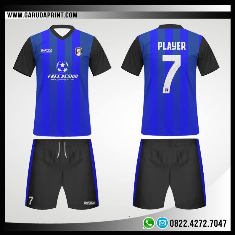 Desain Kostum Futsal 77 - Blue Spirit