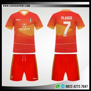 Desain Kostum Bola Futsal 89 – Red Gradacio