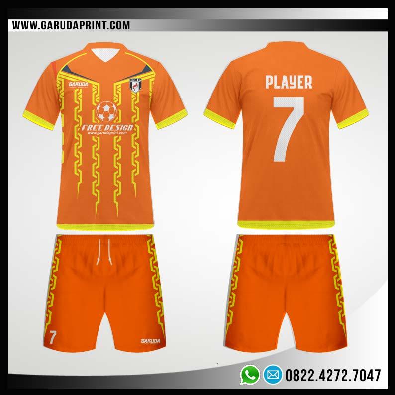 Desain Kaos Bola Futsal 91 - Orange Carving