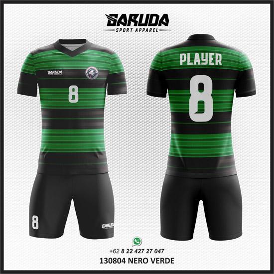 Desain Jersey Futsal Bola Nero Verde