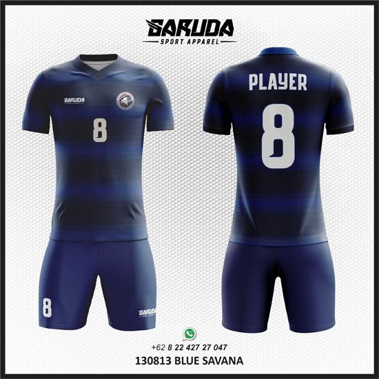 Desain Kaos Tim Futsal Blue Savana