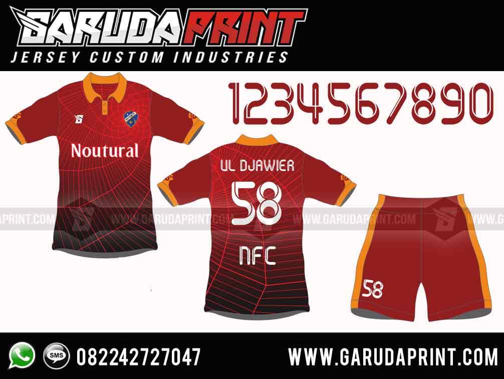 desain jersey futsal printing