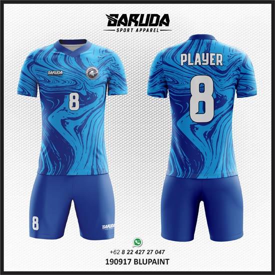 Desain Jersey Futsal Blupaint - Warna Biru