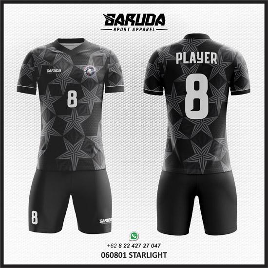Desain Kaos Futsal Hitam motif abu abu