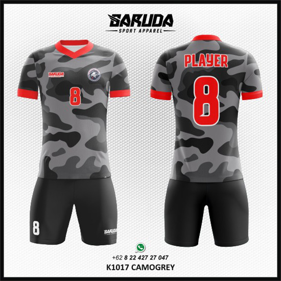 Desain Kostum Bola / Futsal Printing Camogrey