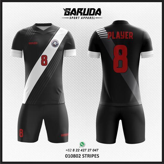 Desain baju Futsal Hitam Putih