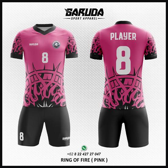 Desain kaos futsal keren warna pink