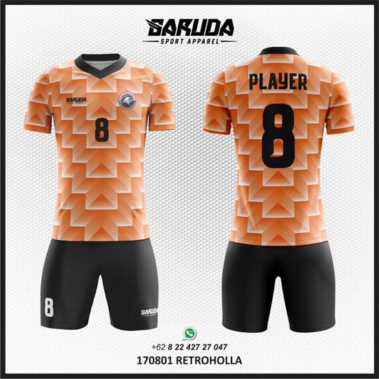 Desain kaos futsal sendiri online motif gradasi