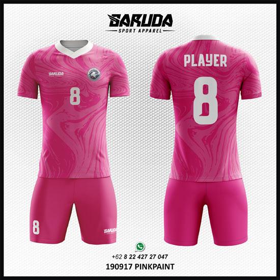 Desain kaos futsal terbaik warna pink