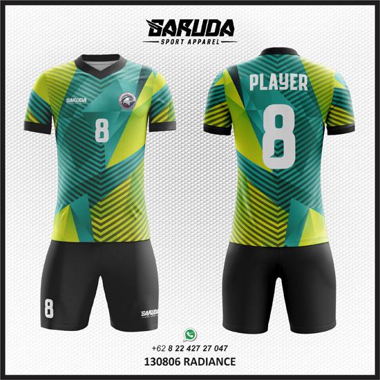 Gambar Desain Kaos Futsal Terbaik hijau