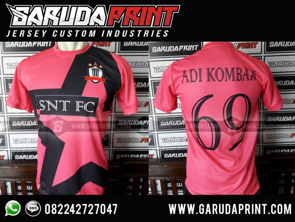 bikin Desain Baju Bola Warna Pink Keren full printing