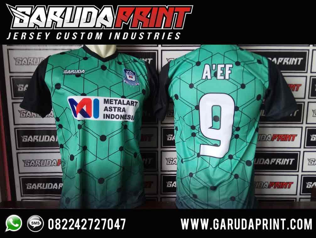 bikin jersey futsal printing Desain warna Hijau