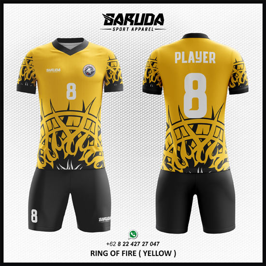 desain kaos futsal sendiri warna kuning