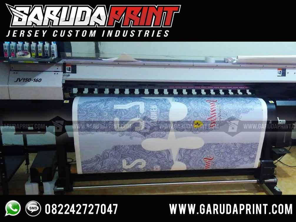pembuatan Desain Baju Futsal printing Motif Batik indonesia