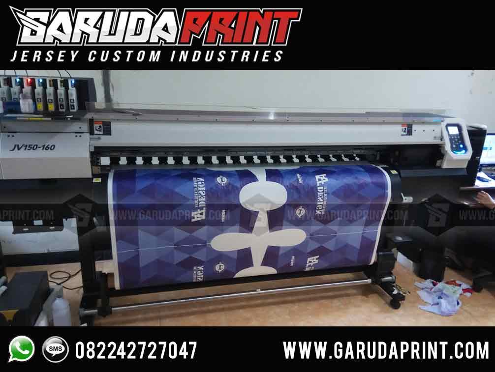 pembuatan Kaos Futsal printng Warna Biru Terbaru