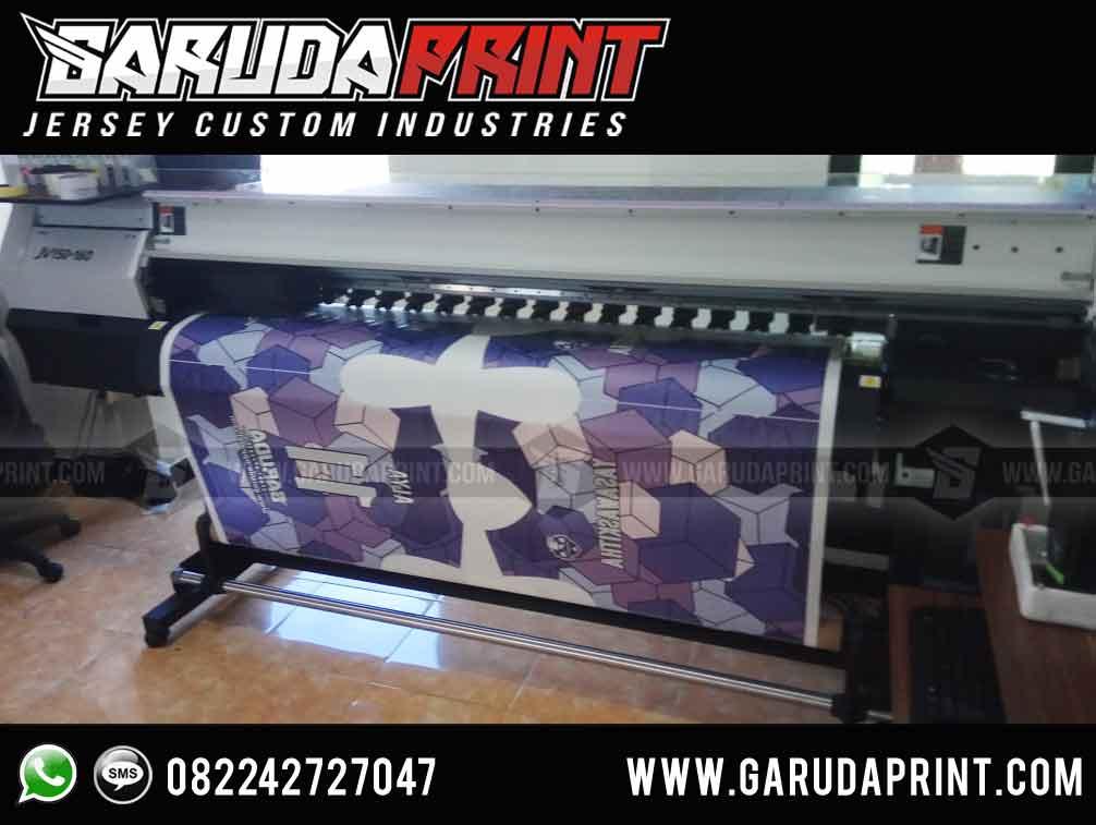pembuatan desain kaos futsal warna ungu printing