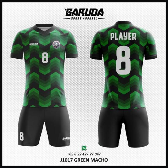Desain Jersey Futsal Printing Macho warna hijau