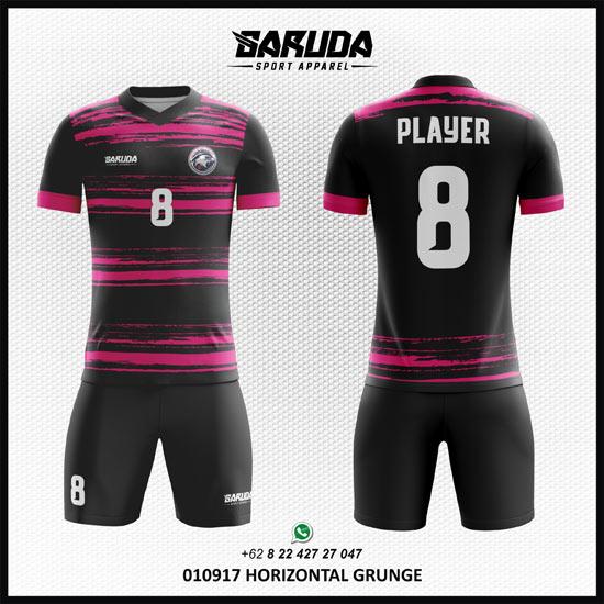 Desain Kaos Futsal Printing - Horizontal Grunge warna hitam pink
