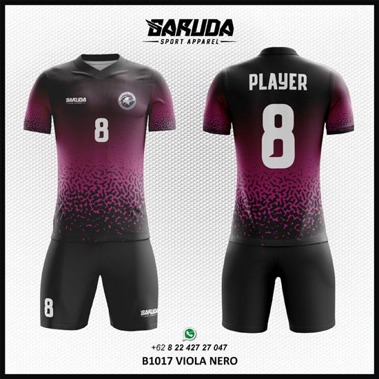 Desain Kostum Futsal Futsal Printing Viola Nero ungu hitam