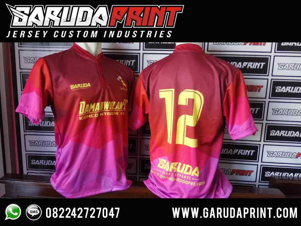 pembuatan Kaos Futsal Dry Fit warna pink