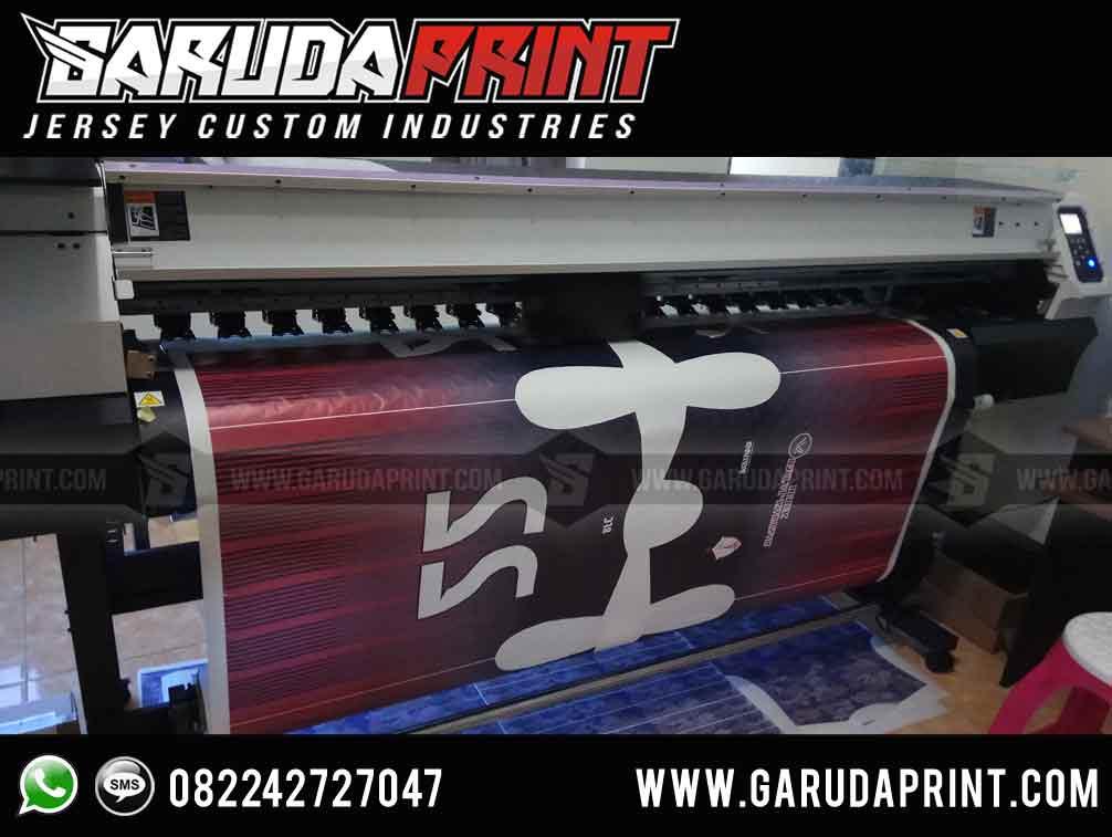 pembuatan kaos futsal warna hitam gradasi merah