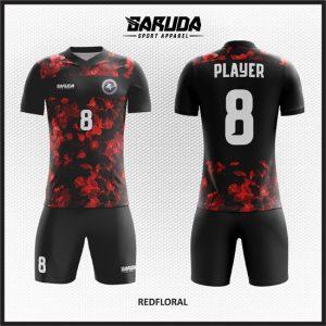Desain Kaos Futsal / Sepakbola Printing Redfloral