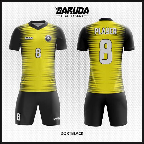Desain Kaos Seragam Futsal Dort Black