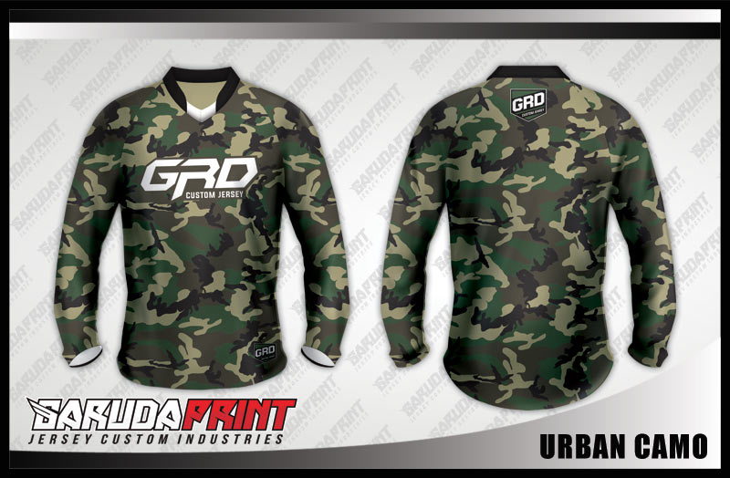 desain baju sepeda downhill army