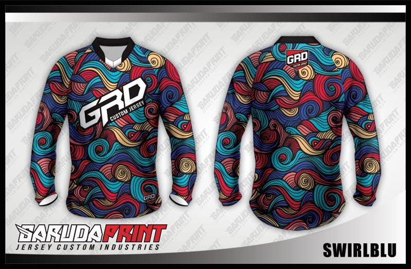 desain baju sepeda downhill batik
