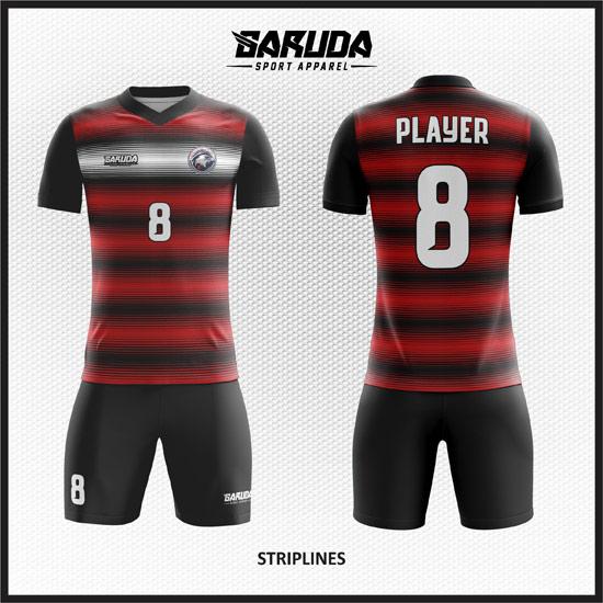 Desain Baju Futsal Printing Striplines Garis Horizontal
