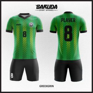 Desain Jersey Futsal Printing Greekgrin, Si Hijau Terbaik