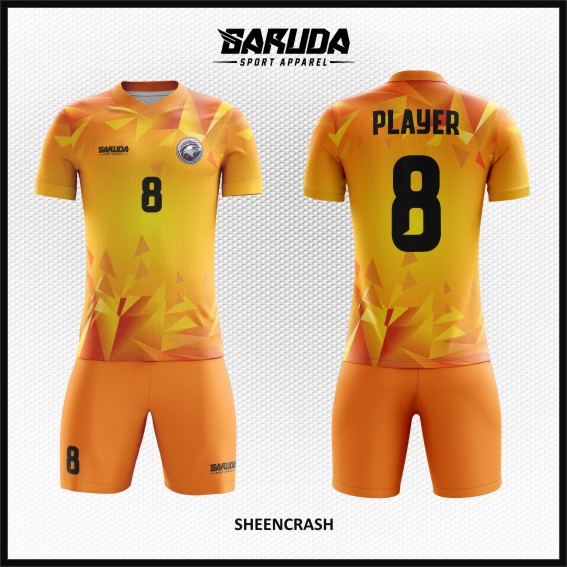 Desain Jersey  Futsal Terbaru Sheencrash Gradasi Abstract