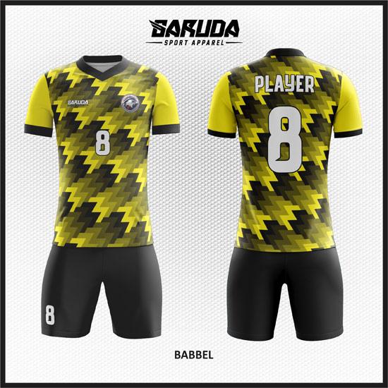 Desain-Kostum-Futsal-Custom-Babbel-KUNING-HITAM
