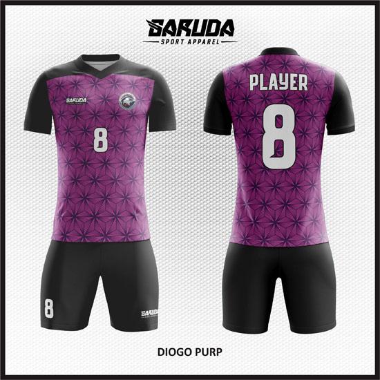 Desain Kostum Futsal Printing Diogo-Purp -Warna Ungu