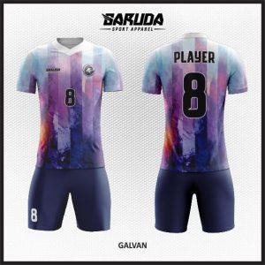 Desain Kostum Futsal Printing Galvan Gradasi Warna
