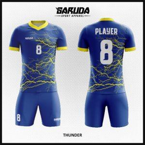 Desain Kostum Futsal Terbaru Thunder Motif Kilat Petir