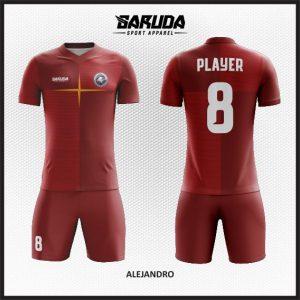 Desan Kostum Seragam Futsal Alejandro Warna Marun