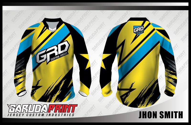Koleksi Desain Jersey Sepeda Downhill / MTB 03