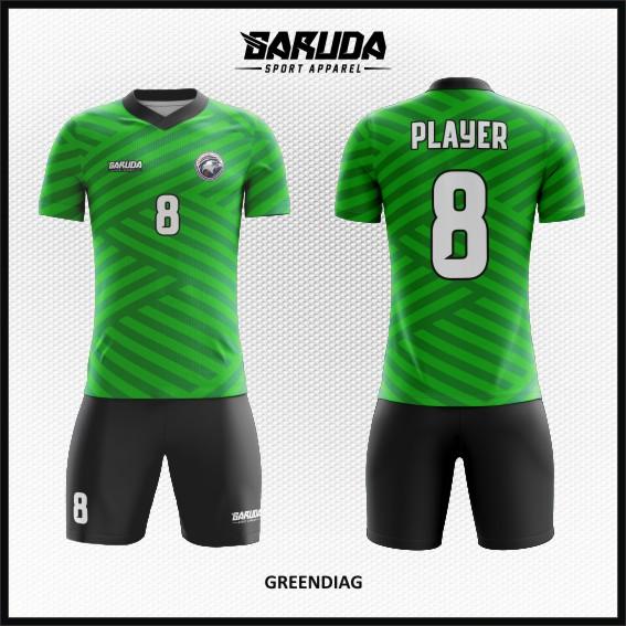 21 Desain Kaos Bola dan Futsal Greendiag Si Hijau