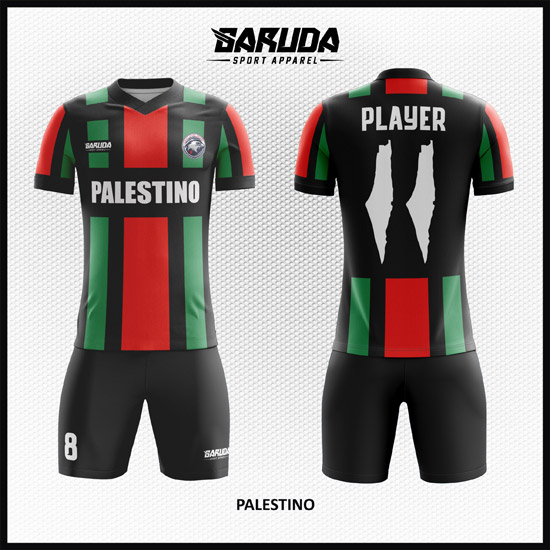 4 DESAIN BAJU BOLA FUTSAL PALESTINO motif palestina