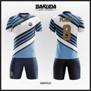 Desain Kostum Futsal Sarvelo Garis Diagonal