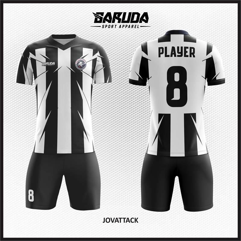 Desain Kostum Futsal Code Jovattack Hitam Putih
