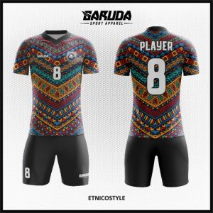 Desain Kostum Bola Futsal Etnicostyle Ornamen Batik