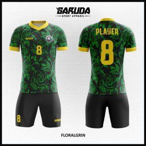 Desain Kostum Sepakbola Futsal Floralgrin Sangat Menawan