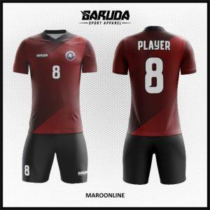 Desain Baju Futsal Code  Maroonline Warna Marun