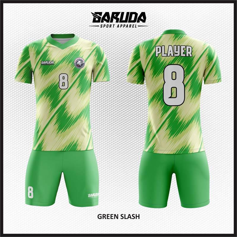 Desain Jersey Futsal Green-Slash Si Tampil Cepat di Lapangan