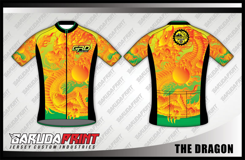 DESAIN KAOS SEPEDA GOWES CODE the-dragon