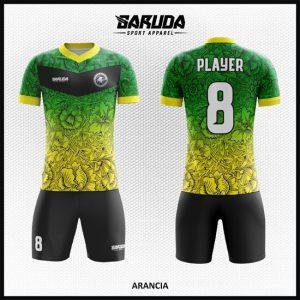 Desain Kaos Futsal Full Print Code Arancia Ornamen Bunga
